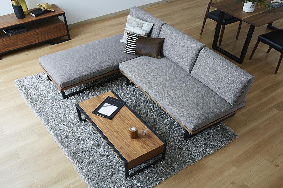 Bộ sofa phòng khách khung thép nâu