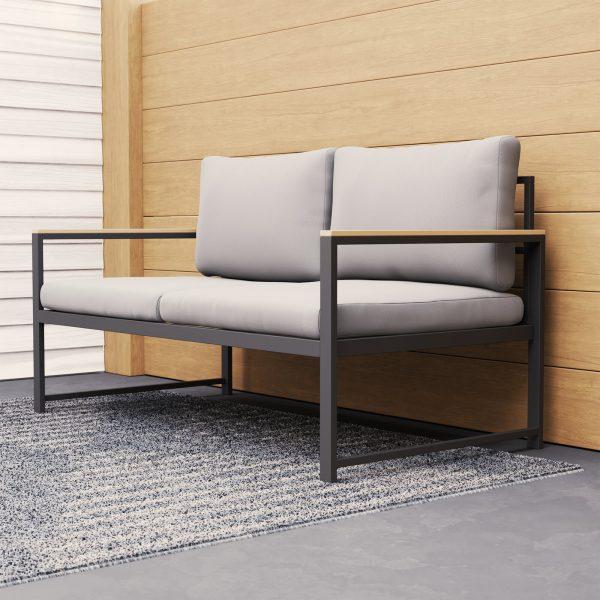 Sofa khung thép ngoài trời hoặc trong nhà